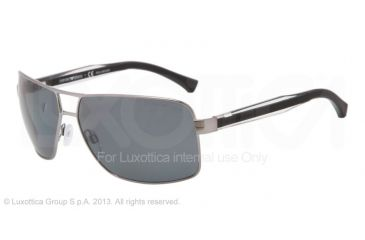 Armani EA2001 EA2001 Single Vision Prescription Sunglasses EA2001-301081-64 - Lens Diameter 64 mm, Frame Color Gunmetal