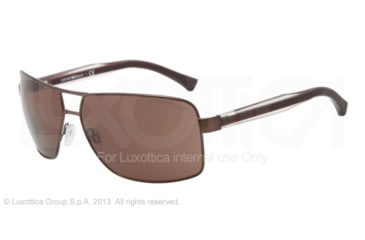 Armani EA2001 EA2001 Single Vision Prescription Sunglasses EA2001-302073-64 - Lens Diameter 64 mm, Frame Color Matte Brown