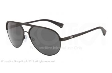Armani EA2004 Single Vision Prescription Sunglasses EA2004-302287-59 - Lens Diameter 59 mm, Frame Color Black Demi Shiny