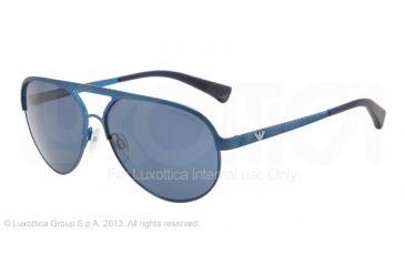 Armani EA2004 Single Vision Prescription Sunglasses EA2004-302380-59 - Lens Diameter 59 mm, Frame Color Blue Demi Shiny