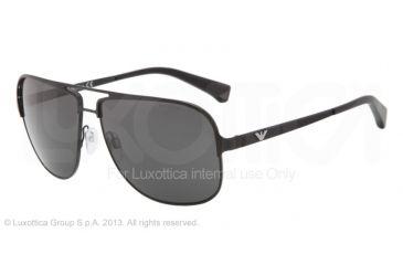 Armani EA2007 Single Vision Prescription Sunglasses EA2007-302287-59 - Lens Diameter 59 mm, Frame Color Black Demi Shiny