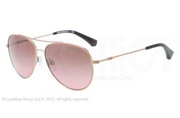 Armani EA2010 Single Vision Prescription Sunglasses EA2010-301114-57 - Lens Diameter 57 mm, Frame Color Pink Gold
