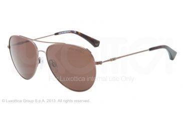 Armani EA2010 Single Vision Prescription Sunglasses EA2010-302873-57 - Lens Diameter 57 mm, Frame Color Brown