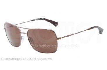 Armani EA2011 Single Vision Prescription Sunglasses EA2011-302873-56 - Lens Diameter 56 mm, Frame Color Brown