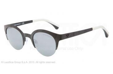 Armani EA2013 Sunglasses 30016G-46 - Matte Black Frame, Blue Mirror Black Lenses