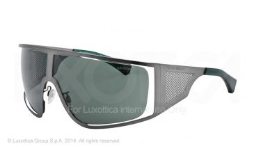 Armani EA2021 Sunglasses 305571-39 - Matte Grey Frame, Grey Green Lenses