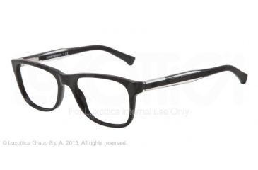 Armani EA3001 Single Vision Prescription Eyeglasses 5017-52 - Black Frame