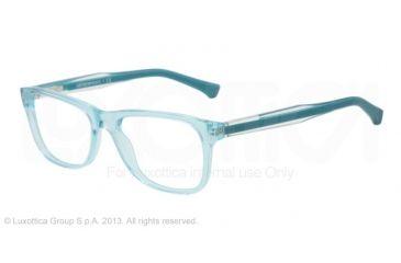 Armani EA3001 Single Vision Prescription Eyeglasses 5068-52 - Aqua Green Transp Frame