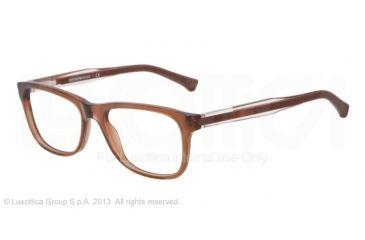 Armani EA3001 Single Vision Prescription Eyeglasses 5069-52 - Brown Transp Frame