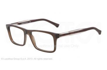 0a1e3bde8924 Armani EA3002 Eyeglass Frames 5073-53 - Dark Brown Transp Frame