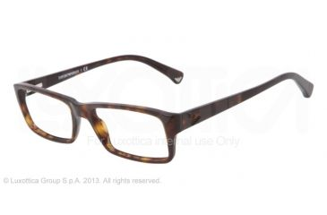 Armani EA3003 Eyeglass Frames 5026-52 - Dark Havana Frame