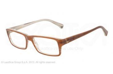 Armani EA3003 Eyeglass Frames 5054-54 - Brown/variegated Cream Frame