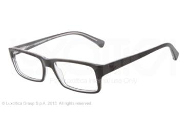 Armani EA3003 Eyeglass Frames 5055-52 - Black On Gray Trnsp Frame