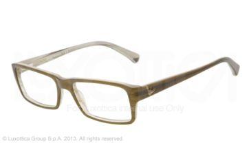Armani EA3003 Eyeglass Frames 5057-52 - Olive Green/variegated Green Frame
