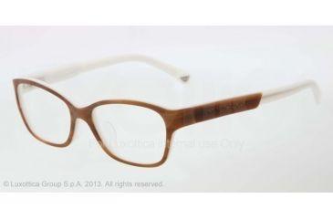 Armani EA3004F Eyeglass Frames 5047-52 - Striped Brown/cream Frame