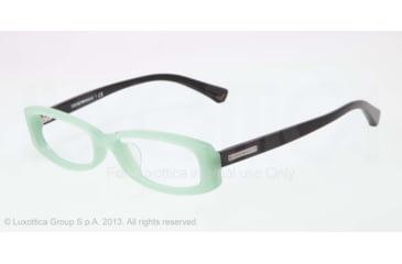Armani EA3007F Single Vision Prescription Eyeglasses 5085-53 - Aqua Green Opal Frame