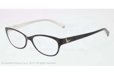 Armani EA3008F Bifocal Prescription Eyeglasses 5051-53 - Black/white Variegated Frame