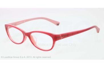 Armani EA3008F Bifocal Prescription Eyeglasses 5053-53 - Striped Cherry/opal Pink Frame