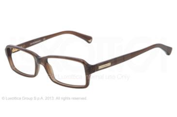 Armani EA3010 Single Vision Prescription Eyeglasses 5073-54 - Dark Brown Transp Frame