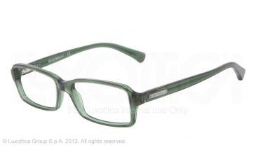 Armani EA3010 Single Vision Prescription Eyeglasses 5074-52 - Dark Green Transp Frame