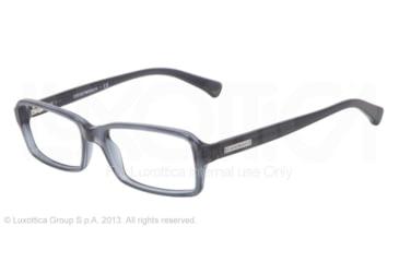 Armani EA3010 Single Vision Prescription Eyeglasses 5090-52 - Blue Gray Transp Frame