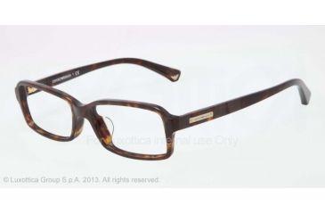 Armani EA3010F Single Vision Prescription Eyeglasses 5026-54 - Dark Havana Frame