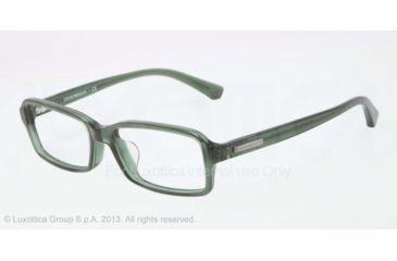 Armani EA3010F Single Vision Prescription Eyeglasses 5074-54 - Dark Green Transp Frame