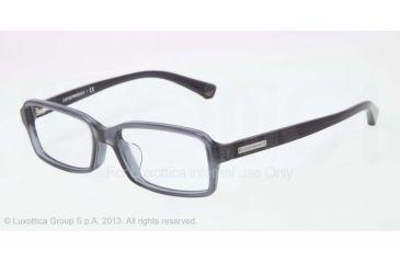Armani EA3010F Single Vision Prescription Eyeglasses 5090-54 - Blue Gray Transp Frame