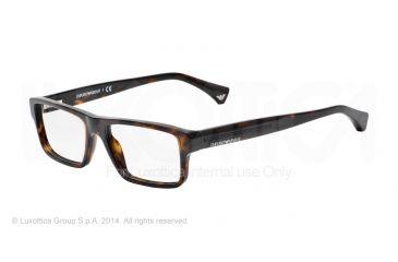 Armani EA3013 Single Vision Prescription Eyeglasses 5026-52 - Dark Havana Frame