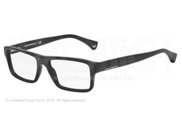 Armani EA3013 Single Vision Prescription Eyeglasses 5042-52 - Matte Black Frame