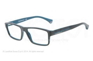 Armani EA3013 Single Vision Prescription Eyeglasses 5104-52 - Top Cypress On Petroleum Frame