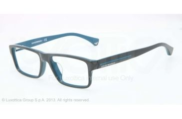 Armani EA3013F Bifocal Prescription Eyeglasses 5104-54 - Top Cypress On Petroleum Frame