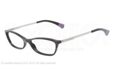 Armani EA3014 Single Vision Prescription Eyeglasses 5017-52 - Black/violet Frame