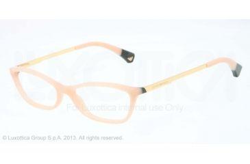 Armani EA3014 Single Vision Prescription Eyeglasses 5087-52 - Beige/green Frame