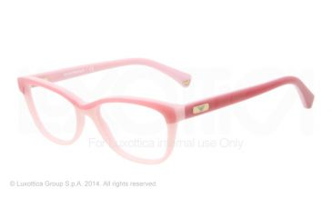 Armani EA3015 Single Vision Prescription Eyeglasses 5110-51 - Light Pink/dark Pink Frame