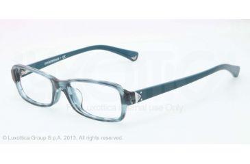 Armani EA3016F Single Vision Prescription Eyeglasses 5101-53 - Striped Transp Petroleum Frame