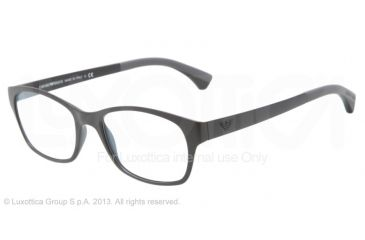 Armani EA3017 Single Vision Prescription Eyeglasses 5042-50 - Matte Black Frame
