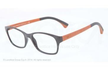 Armani EA3017 Single Vision Prescription Eyeglasses 5126-50 - Matte Dark Grey Frame