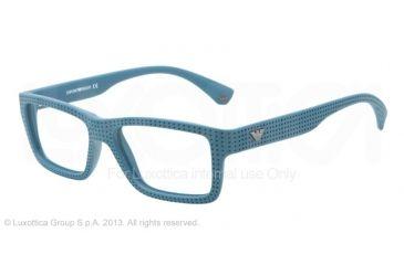 Armani EA3019 Single Vision Prescription Eyeglasses 5139-53 - Petroleum Frame