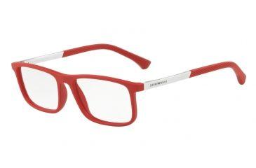 2e289a4b235 Armani EA3125 Single Vision Prescription Eyeglasses 5645-53 - Red Rubber  Frame