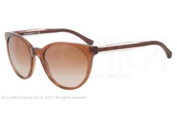 Armani EA4003 Sunglasses 506913-55 - Brown Transp Frame, Brown Gradient Lenses