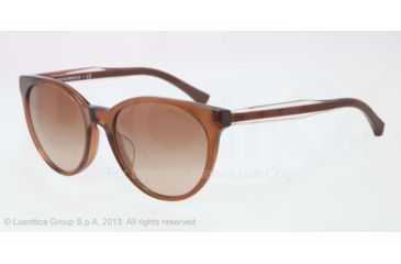 Armani EA4003F Sunglasses 506913-55 - Brown Transp Frame, Brown Gradient Lenses