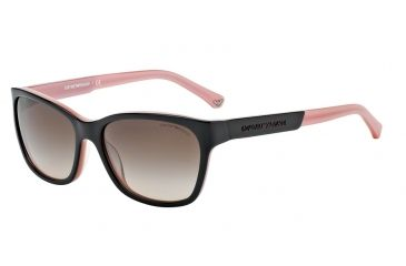 ea32dc4647 Armani EA4004 EA4004 Sunglasses 504613-56 - Black/opal Pink Frame, Brown  Gradient