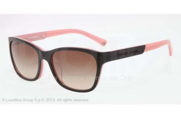 Armani EA4004F Sunglasses 504613-56 - Black/opal Pink Frame, Brown Gradient Lenses