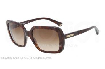 Armani EA4007 Sunglasses 502613-54 - Dark Havana Frame, Brown Gradient Lenses