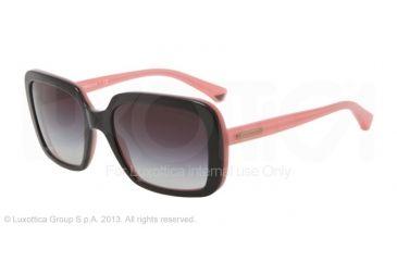 Armani EA4007 Sunglasses 50468G-54 - Black/opal Pink Frame, Gray Gradient Lenses