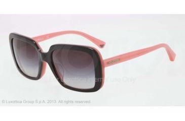 Armani EA4007F Sunglasses 50468G-54 - Black/opal Pink Frame, Gray Gradient Lenses