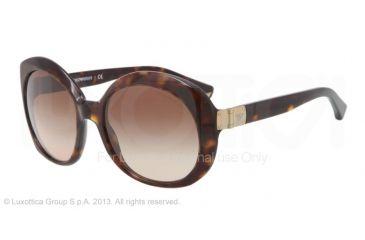 Armani EA4009 Sunglasses 502613-56 - Dark Havana Frame, Brown Gradient Lenses