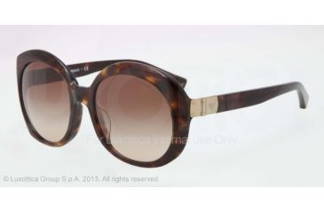 Armani EA4009F Sunglasses 502613-56 - Dark Havana Frame, Brown Gradient Lenses