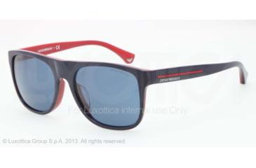 Armani EA4014F Sunglasses 510380-56 - Top Blue On Red Frame, Blue Lenses